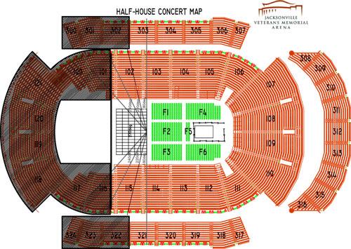 Veterans Memorial Arena Seating Map